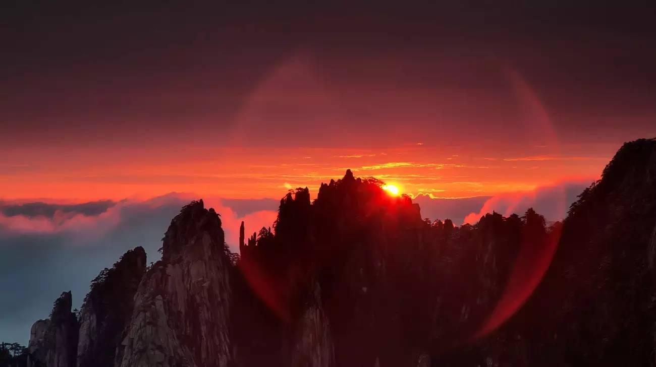 黄山 日出