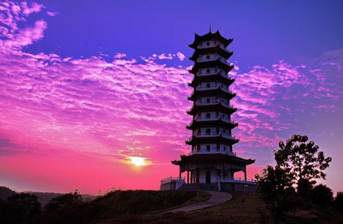 武宁杨梅岛,西海明珠,文峰塔一日游
