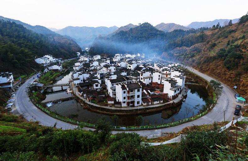 婺源上坦村风景图片