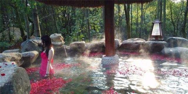 九岭温泉赏花、摘草莓一日游